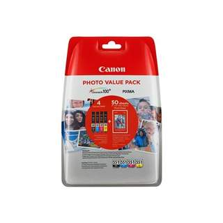 6508B005 – Canon CLI-551 C/M/Y/BK Photo Value Pack