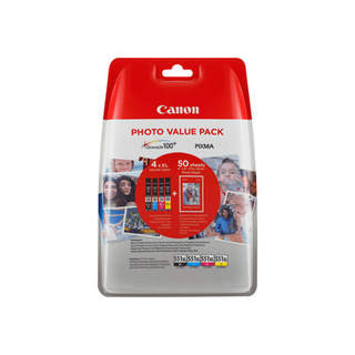 6443B006 – Canon CLI-551XL C/M/Y/BK Photo Value Pack
