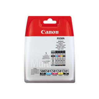 2078C005 – Canon PGI-580 PGBK/CLI-581 CMYBK Multipack